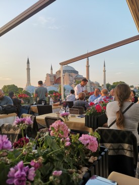 View to Hagia Sofia from Seven Hills Restaurant